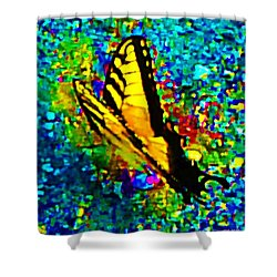 Butterfly Mosaic Shower Curtain