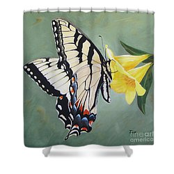 Butterfly On Jasmine Shower Curtain