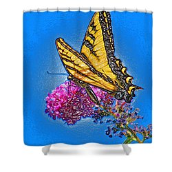 Shower Curtain featuring the photograph Butterfly by Patrick Witz