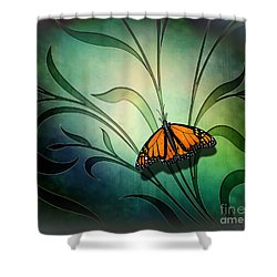 Butterfly Pause V1 Shower Curtain
