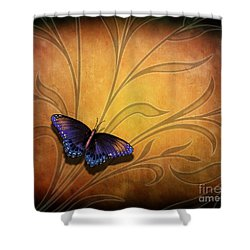 Butterfly Pause V2 Shower Curtain