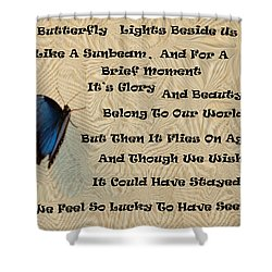 Butterfly Poem Shower Curtain