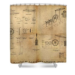 Butterfly Pump Shower Curtain by James Christopher Hill