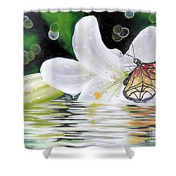 Butterfly Series Seven Shower Curtain by Dianna Lewis