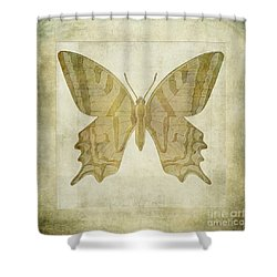 Butterfly Textures Shower Curtain by John Edwards