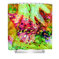 Butterfly That Was A Muscian Shower Curtain