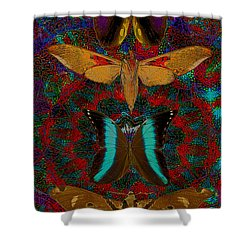 Solar Butterfly Shower Curtain