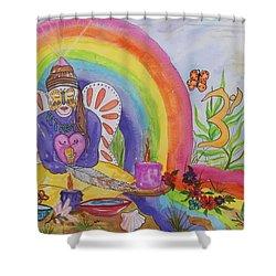 Butterfly Woman Healer I Am Shower Curtain