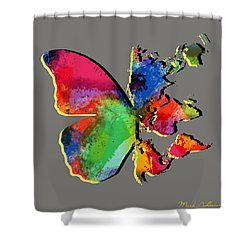 Butterfly World Map 2 Shower Curtain by Mark Ashkenazi