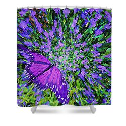 Butterfly.1 Shower Curtain by Mariarosa Rockefeller