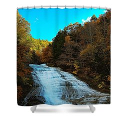 Shower Curtain featuring the photograph Buttermilk Falls Ithaca New York by Paul Ge