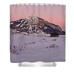 Butte's Winter Glow Shower Curtain