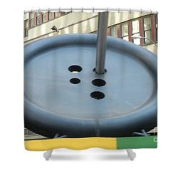 Shower Curtain featuring the photograph Button Button by Luther Fine Art