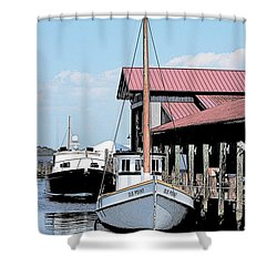 Buy Boat Old Point Shower Curtain