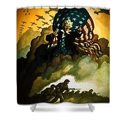 Buy War Bonds Shower Curtain