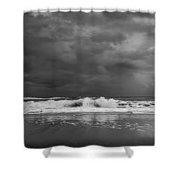 Bw Stormy Seascape Shower Curtain