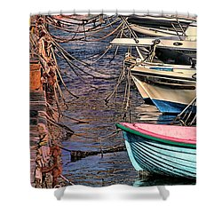 By A Nose Mykonos Greece Shower Curtain by Tom Prendergast