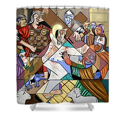 By My Wounds You Were Healed Shower Curtain by Anthony Falbo