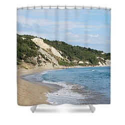 Shower Curtain featuring the photograph By The Beach by George Katechis