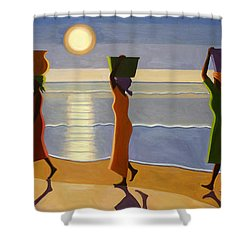By The Beach Shower Curtain by Tilly Willis
