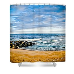 By The Beautiful Sea Shower Curtain by Colleen Kammerer