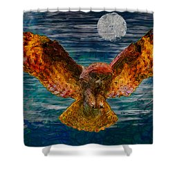 By The Light Of The Moon Shower Curtain by Jack Zulli