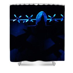 By The Light Of The Twin Moons Shower Curtain by Steve Taylor