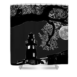 Shower Curtain featuring the photograph By The Light by Robert McCubbin