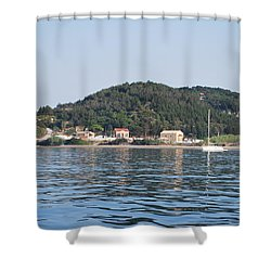 Shower Curtain featuring the photograph By The Sea by George Katechis