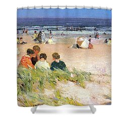 By The Shore Shower Curtain by Edward Potthast