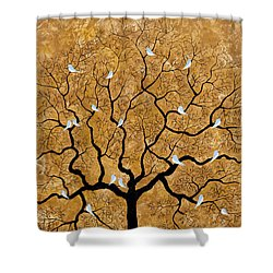 By The Tree Shower Curtain