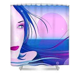 Bye Bye My Baby Shower Curtain by Sandra Hoefer