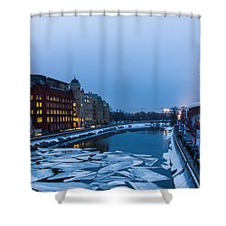 Bypass Canal Of Moscow River - Featured 3 Shower Curtain by Alexander Senin