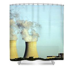 Byron Nuclear Plant Shower Curtain