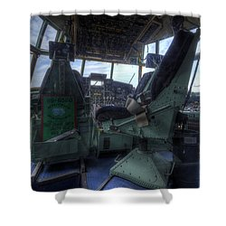 C-130 Cockpit Shower Curtain