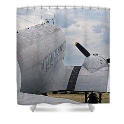 Shower Curtain featuring the photograph C-47 3880 by Guy Whiteley