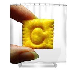 Shower Curtain featuring the photograph C For Cheese Cracker by Pete Trenholm