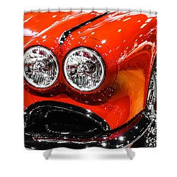 C1 Red Chevrolet Corvette Picture Shower Curtain by Paul Velgos