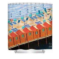 Cabanas Of Sorrento Shower Curtain