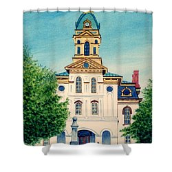 Cabarrus County Courthouse Shower Curtain by Stacy C Bottoms