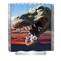 Cabazon Dinosaur Shower Curtain
