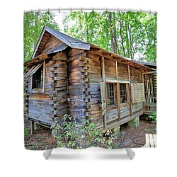 Shower Curtain featuring the photograph Cabin In The Woods by Gordon Elwell