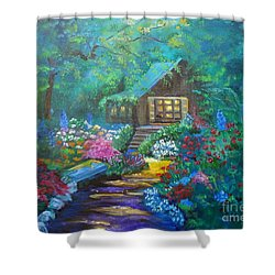 Cabin In The Woods Jenny Lee Discount Shower Curtain