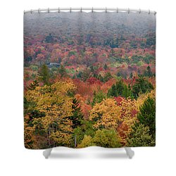 Cabin In Vermont Fall Colors Shower Curtain