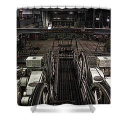 Cable Car Barn In San Francisco Shower Curtain by RicardMN Photography