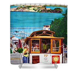 Cable Car No. 17 Shower Curtain by Mike Robles