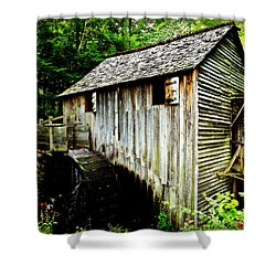 Cable Mill - Cades Cove Shower Curtain by Stephen Stookey