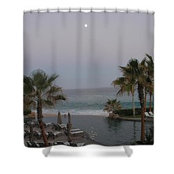 Shower Curtain featuring the photograph Cabo Moonlight by Susan Garren