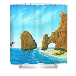 Cabo San Lucas Mexico Shower Curtain by Jerome Stumphauzer