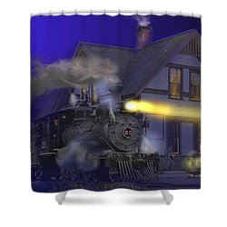 Caboose Hop At Dolores Colorado Shower Curtain by J Griff Griffin